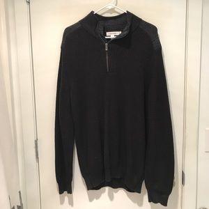 Calvin Klein Black Quarter Zip Sweater